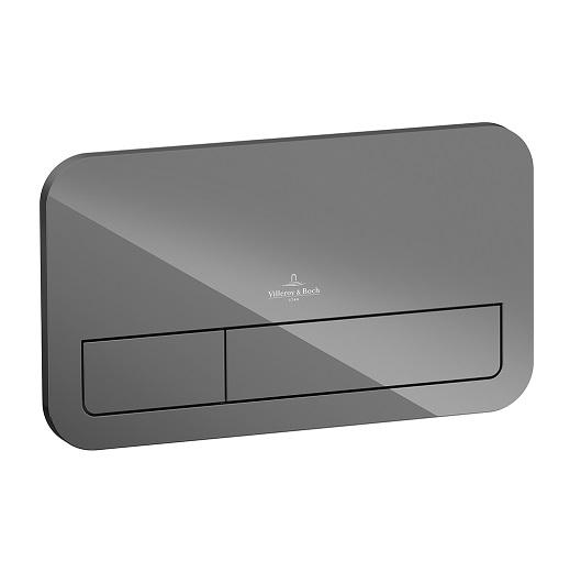 Клавиша смыва Villeroy & Boch ViConnect 9224 00 RA (922400RA) (стекло, серый глянцевый)