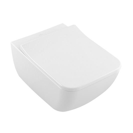 Чаша подвесного унитаза Villeroy & Boch Legato 5663 R0 R1 (5663R0R1) CeramicPlus, без смывного обода