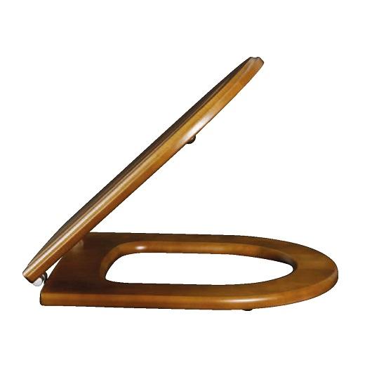 Сиденье с крышкой для унитаза Villeroy & Boch Hommage 9926 66 00 (99266600) Орех/Латунь