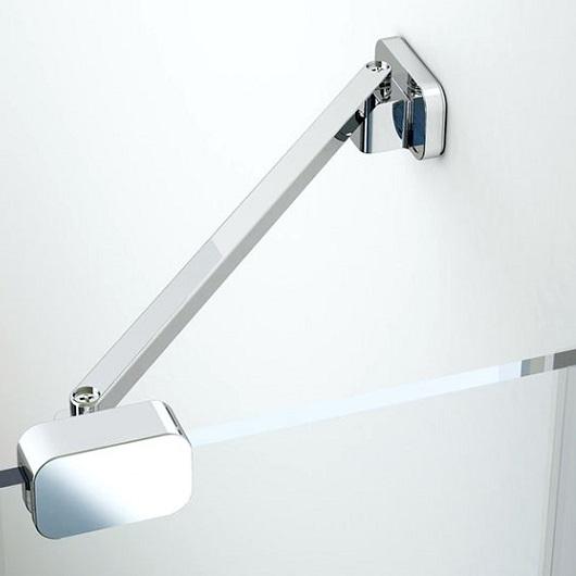 Душевой угол Ravak Chrome CSKK4-80 3Q140100Z1 (800×800х1950 мм) профиль белый/стекло Transparent