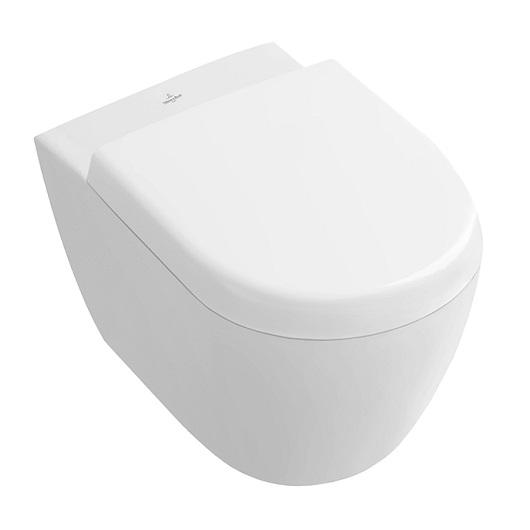 Чаша подвесного унитаза Villeroy & Boch Subway 2.0 5606 10 R2 укороченная (560610R2) Star White, CeramicPlus