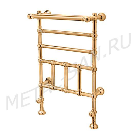 Полотенцесушитель водяной Margaroli Armonia 9-300 с полкой (1040х600 мм) золото