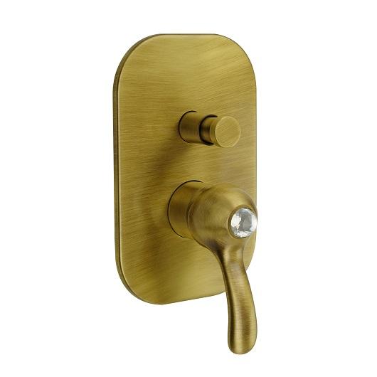 Смеситель для ванны Migliore Lem Swarovski ML.LEM-1972K.BR (бронза)
