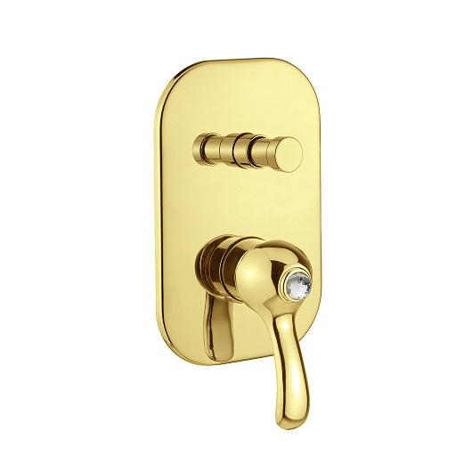 Смеситель для ванны Migliore Lem Swarovski ML.LEM-1972K.DO (золото)