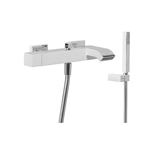 Смеситель для ванны TRES Cuadro Exclusive 40717002 (белый/хром)