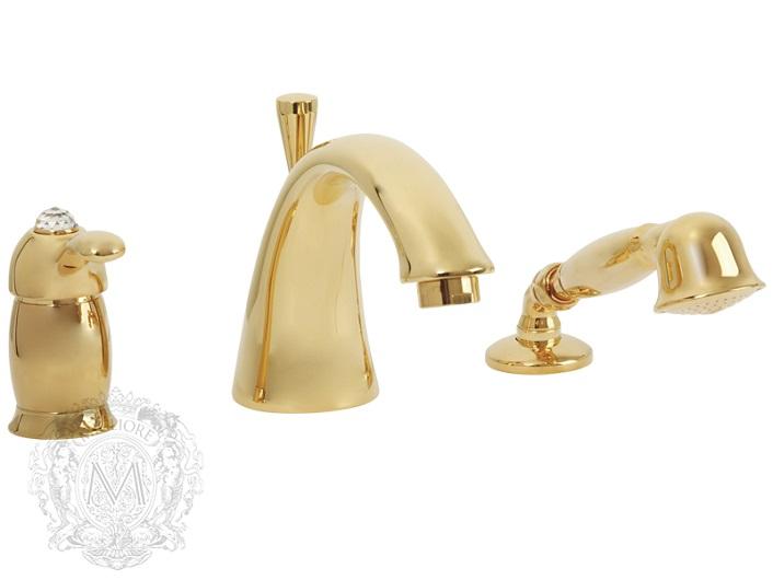 Смеситель для ванны Migliore Lem Swarovski ML.LEM-1950K.DO (золото)