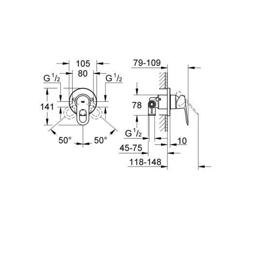 Гигиенический набор Grohe BauLoop 124895