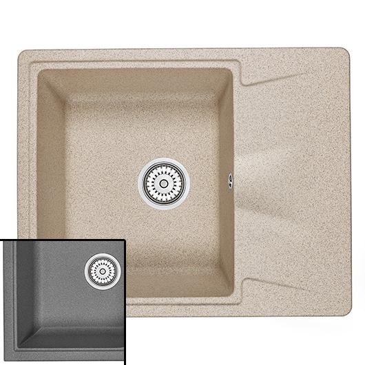 Кухонная мойка Granula GR-6201 Графит (620х500 мм)