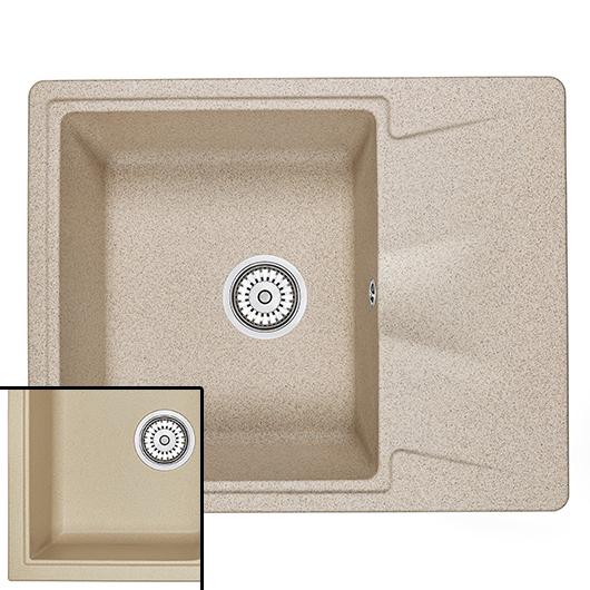 Кухонная мойка Granula GR-6201 Песок (620х500 мм)