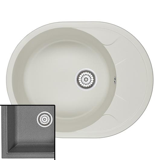 Кухонная мойка Granula GR-6301 Графит (630х500 мм)