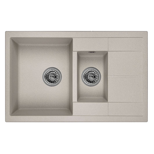 Кухонная мойка Granula GR-7802 Базальт (775х495 мм)