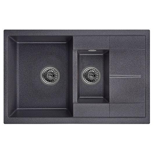 Кухонная мойка Granula GR-7802 Черный (775х495 мм)
