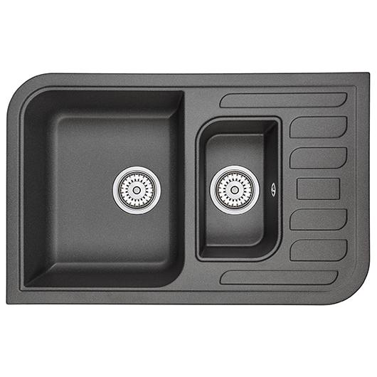 Кухонная мойка Granula GR-7803 Черный (780х500 мм)