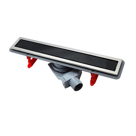 Душевой лоток Pestan Confluo Premium Line Black Glass 650 (650 мм, нержавеющая сталь/черное стекло) 13000293