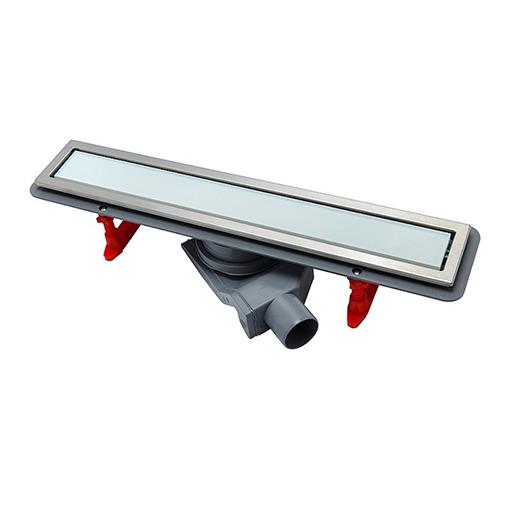 Душевой лоток Pestan Confluo Premium Line White Glass 550 (550 мм, нержавеющая сталь/белое стекло) 13000282