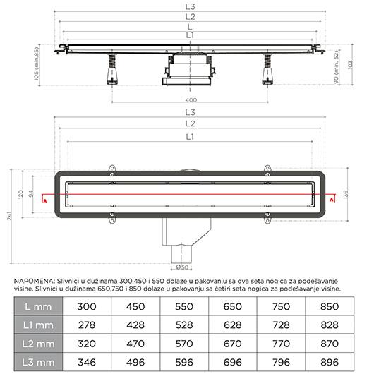Душевой лоток Pestan Confluo Premium Line 750 (750 мм, нержавеющая сталь/под плитку) 13100005