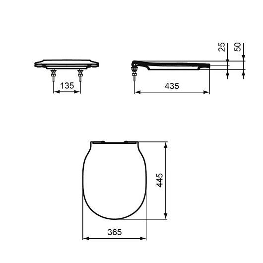 Сиденье с крышкой Ideal Standard Connect Air E036501