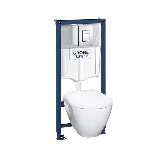 Комплект унитаза с инсталляцией Grohe Solido Perfect 39186000 (комплект 4 в 1)