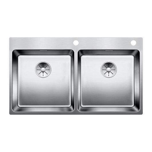 Мойка Blanco Andano 400/400-IF/A 522998 с клапаном-автоматом (зеркальная полировка)