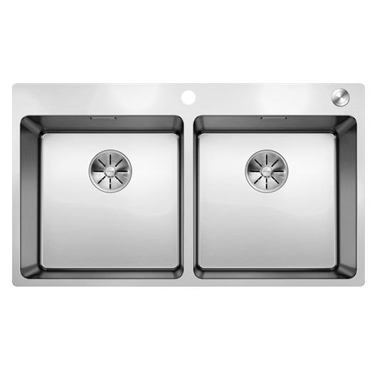 Мойка Blanco Andano 400/400-IF/A 525249 с клапаном-автоматом (зеркальная полировка)