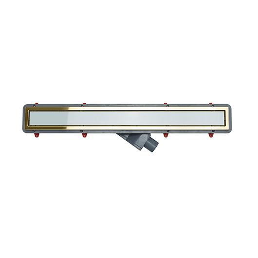 Душевой лоток Pestan Confluo Premium White Glass Gold Line 650 (650 мм, золото/белое стекло) 13100091 (13100122)