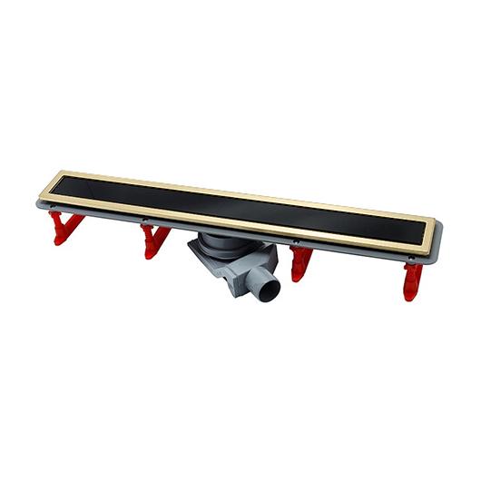 Душевой лоток Pestan Confluo Premium Gold Black Glass Line 850 (850 мм, золото/черное стекло) 13100099 (13100118)