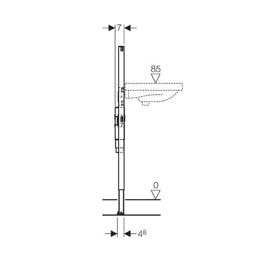 Инсталляция для подвесного умывальника Geberit Duofix 111.480.00.1 (с внутристенным сифоном)