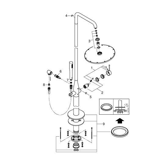 Душевая система Grohe Essence 23741001