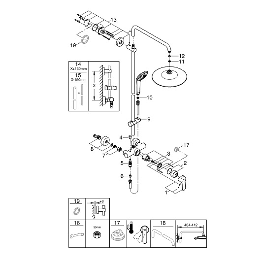 Душевая система Grohe Euphoria 260 27473001 (9,5 л/мин)
