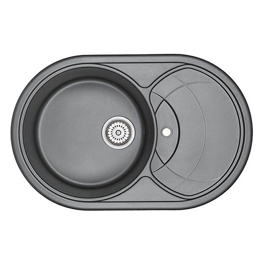 Кухонная мойка Granula GR-7801 Шварц (775х495 мм)