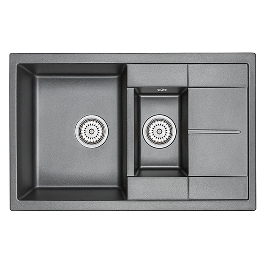 Кухонная мойка Granula GR-7802 Шварц (775х495 мм)