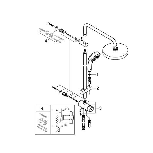 Душевая система Grohe New Tempesta Cosmopolitan System 200 27394002