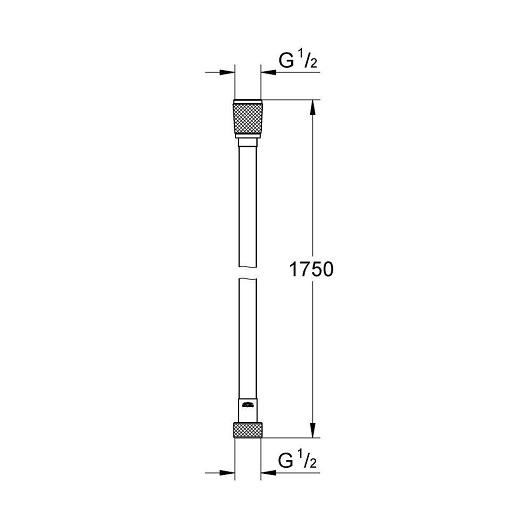 Душевой шланг Grohe Silverflex 28388000 (1750 мм)