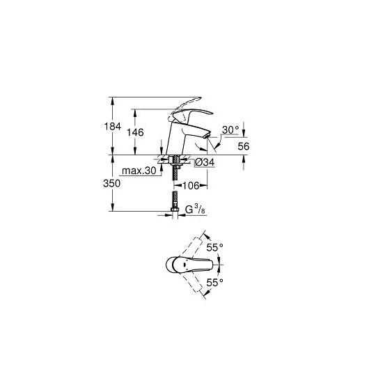 Комплект смесителей Grohe Eurosmart 124422