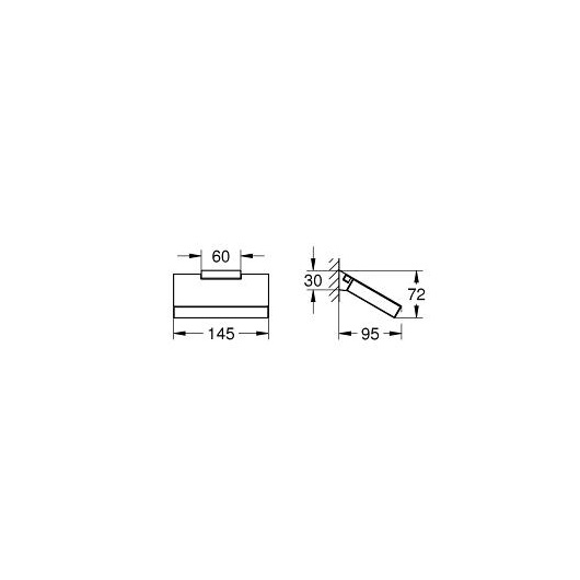 Бумагодержатель Grohe Selection Cube 40781000
