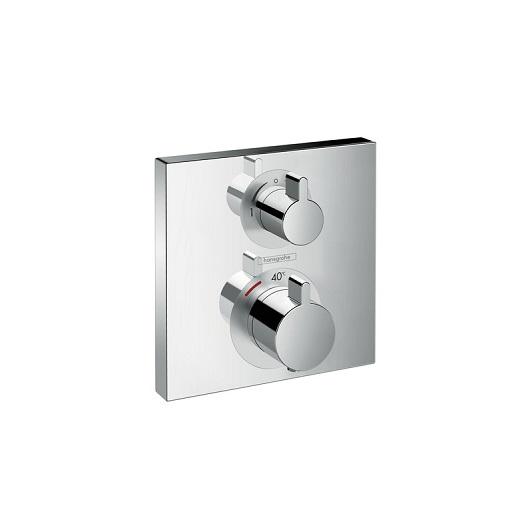 Термостат с запорным/переключающим вентилем Hansgrohe Ecostat Square 15714000