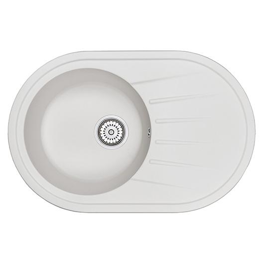 Кухонная мойка Granula Standard Оберон ST-7601 Белый (760х500 мм)