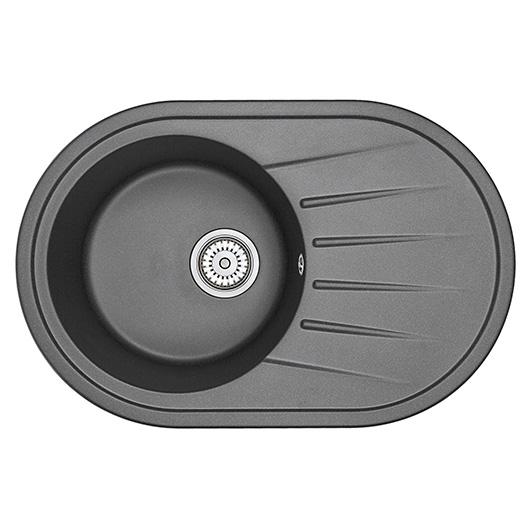Кухонная мойка Granula Standard Оберон ST-7601 Черный (760х500 мм)