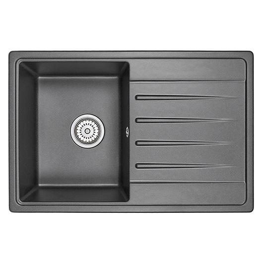 Кухонная мойка Granula Standard Рэндом ST-7602 Черный (760х500 мм)