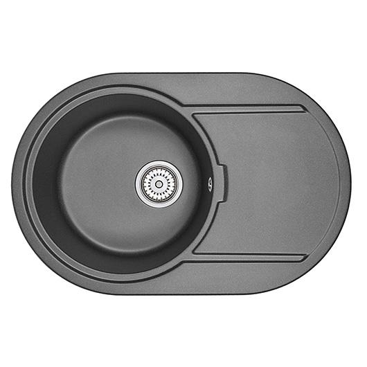 Кухонная мойка Granula GR-7603 Черный (760х500 мм)