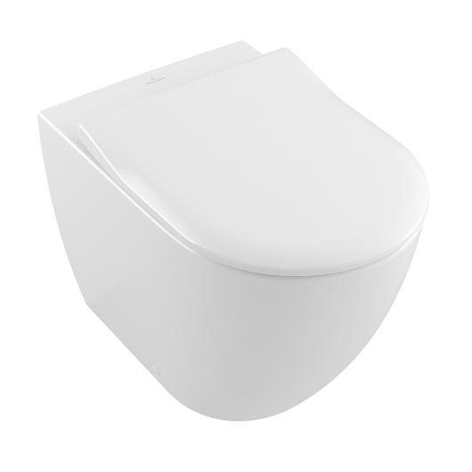 Чаша приставного унитаза Villeroy & Boch Subway 2.0 5602 R0 R1 (5602R0R1) CeramicPlus, без смывного обода