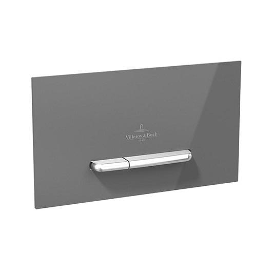 Клавиша смыва Villeroy & Boch ViConnect 9221 60 RA (922160RA) (стекло, серый глянцевый)