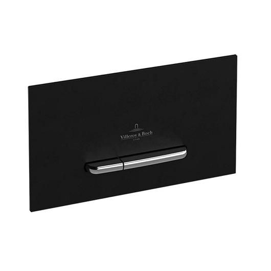 Клавиша смыва Villeroy & Boch ViConnect 9221 60 RB (922160RB) (стекло, черный глянцевый)