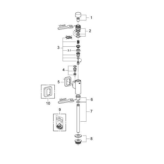 Смывное устройство для писсуара Grohe Rondo 37342000