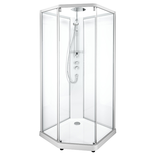 Душевая кабина IDO Showerama 10-5 Comfort 558.208.314 (1000х1000 мм) профиль матовый, стекло прозрачное