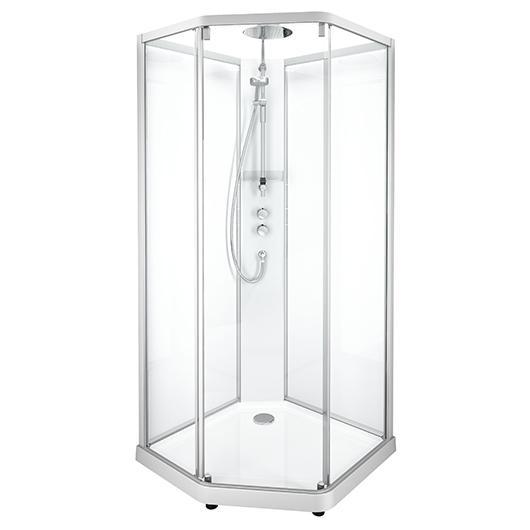 Душевая кабина IDO Showerama 10-5 Comfort 558.202.302 (900х900 мм) профиль матовый, стекло прозрачное