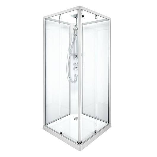 Душевая кабина IDO Showerama 10-5 Comfort 558.210.302 (900х900 мм) профиль матовый, стекло прозрачное