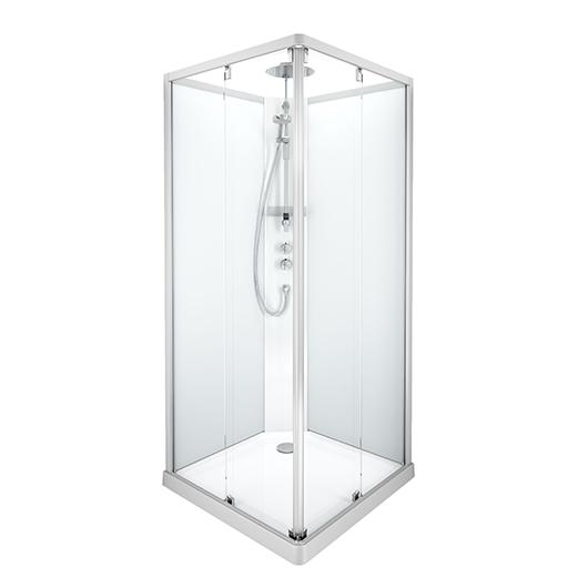 Душевая кабина IDO Showerama 10-5 Comfort 558.210.304 (900х900 мм) профиль матовый, стекла прозрачные/матовые