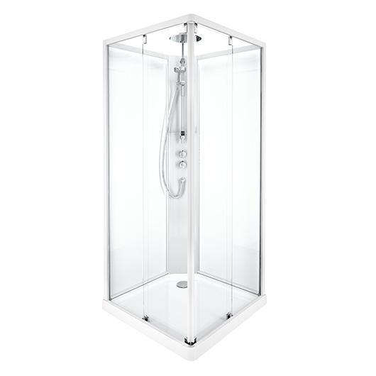Душевая кабина IDO Showerama 10-5 Comfort 558.209.301 (900х900 мм) профиль белый, стекло прозрачное