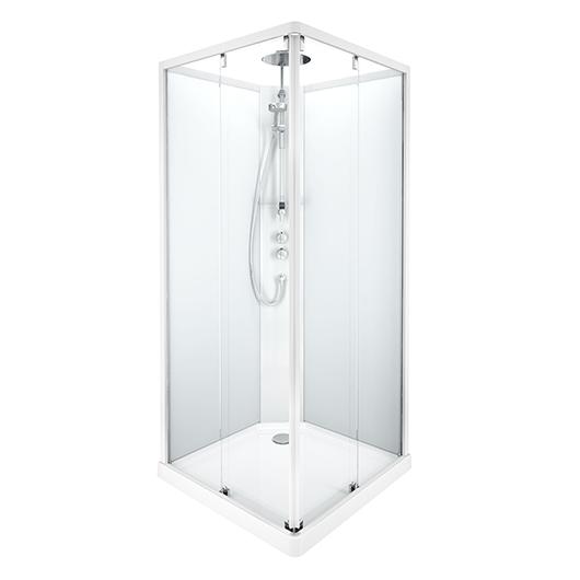 Душевая кабина IDO Showerama 10-5 Comfort 558.209.303 (900х900 мм) профиль белый, стекла прозрачные/матовые
